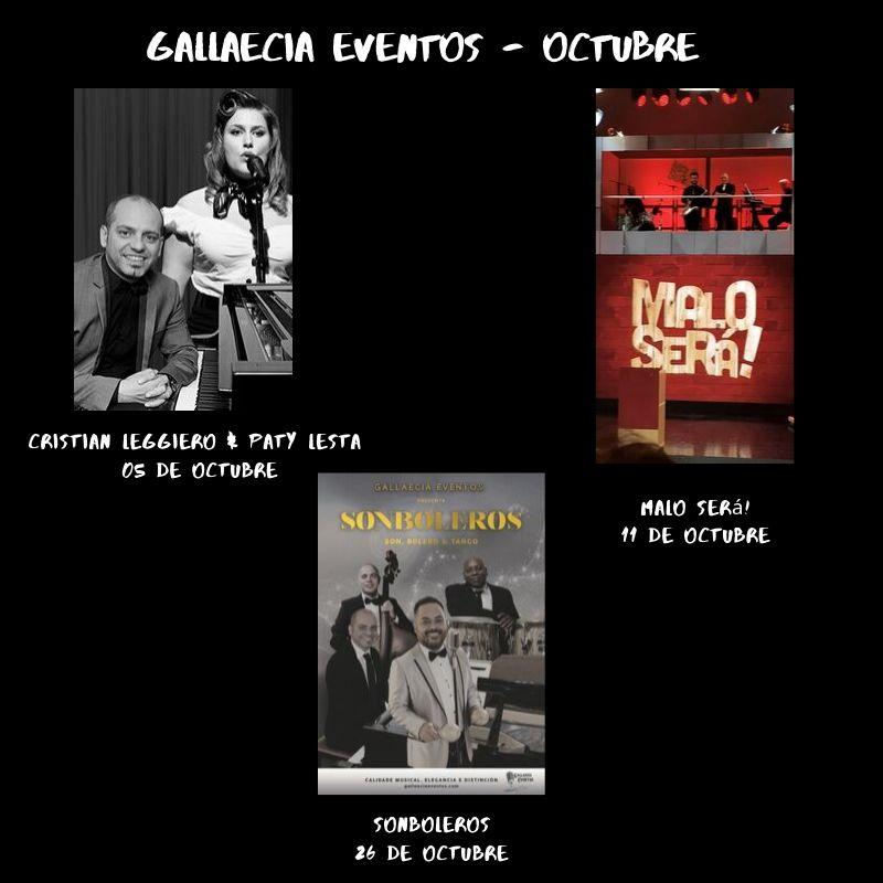 Gallaecia eventos octubre 2019