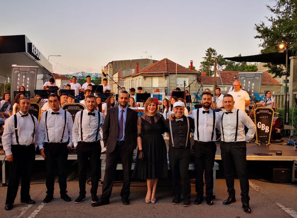 gallaecia big band con la banda de música de Moraña
