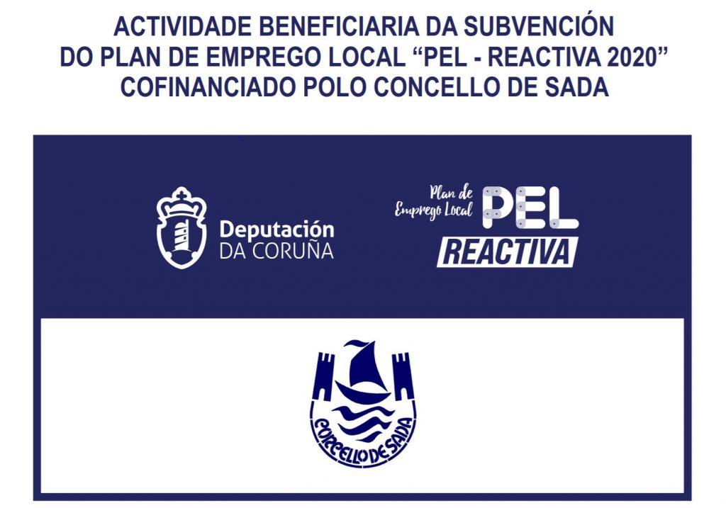 actividade beneficiaria da subvencion do plan de emprego local PEL-REACTIVA 2020 confinanciado polo concello de sada